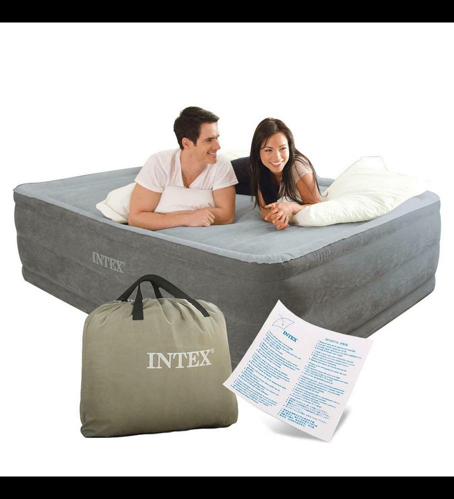 Colchón Inflable Eléctrico Intex 2 Plazas 152x203x56 Cm Comfort Plush