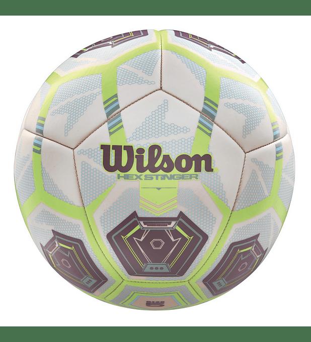 Balón Futbol Wilson Hex Stinger Tamaño 5 Blanco