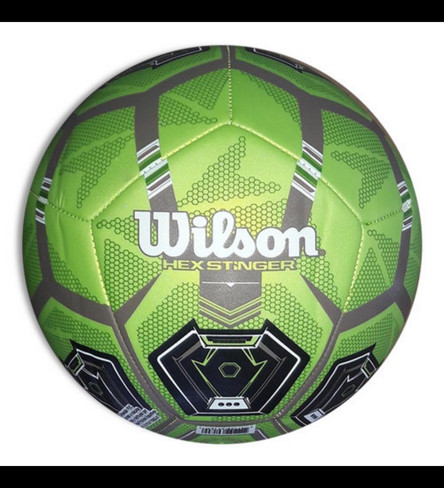 Balón Futbol Wilson Hex Stinger Tamaño 5 Verde