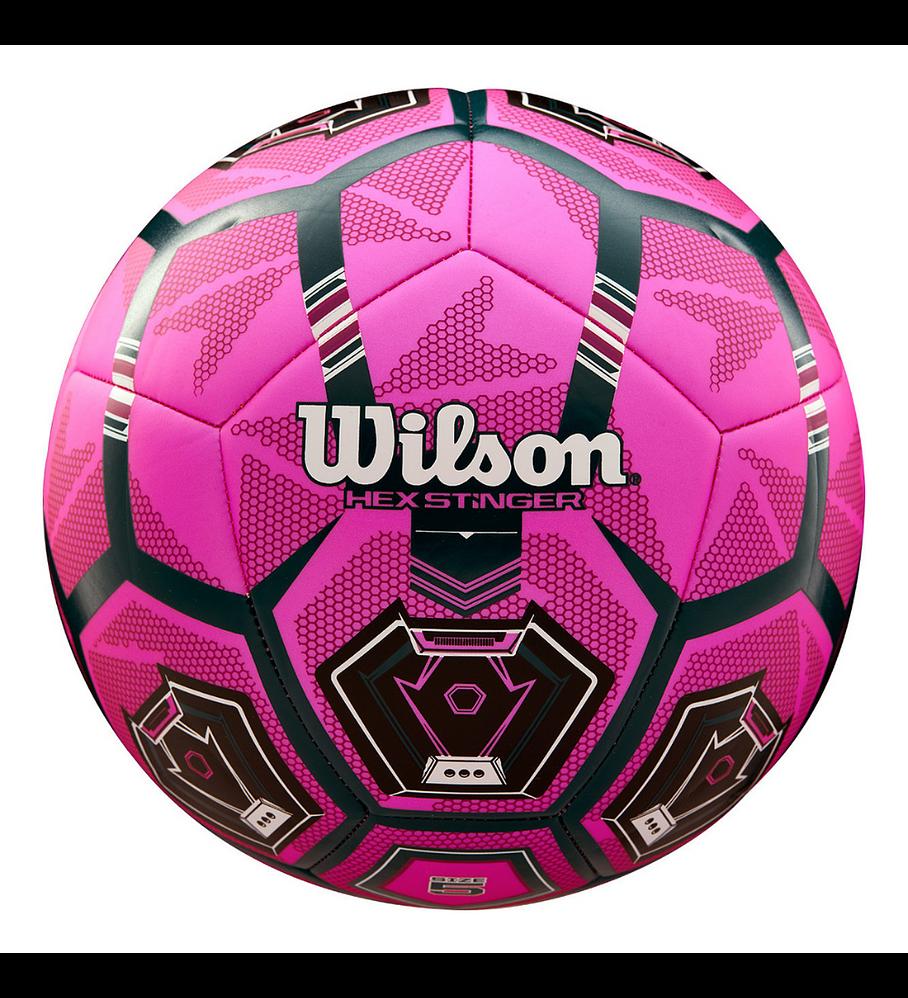 Balón Futbol Wilson Hex Stinger Tamaño 5 Rosado