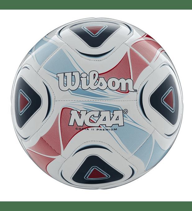 Balón Futbol Wilson NCAA Cop. II Premium Tamaño 5 Blanco