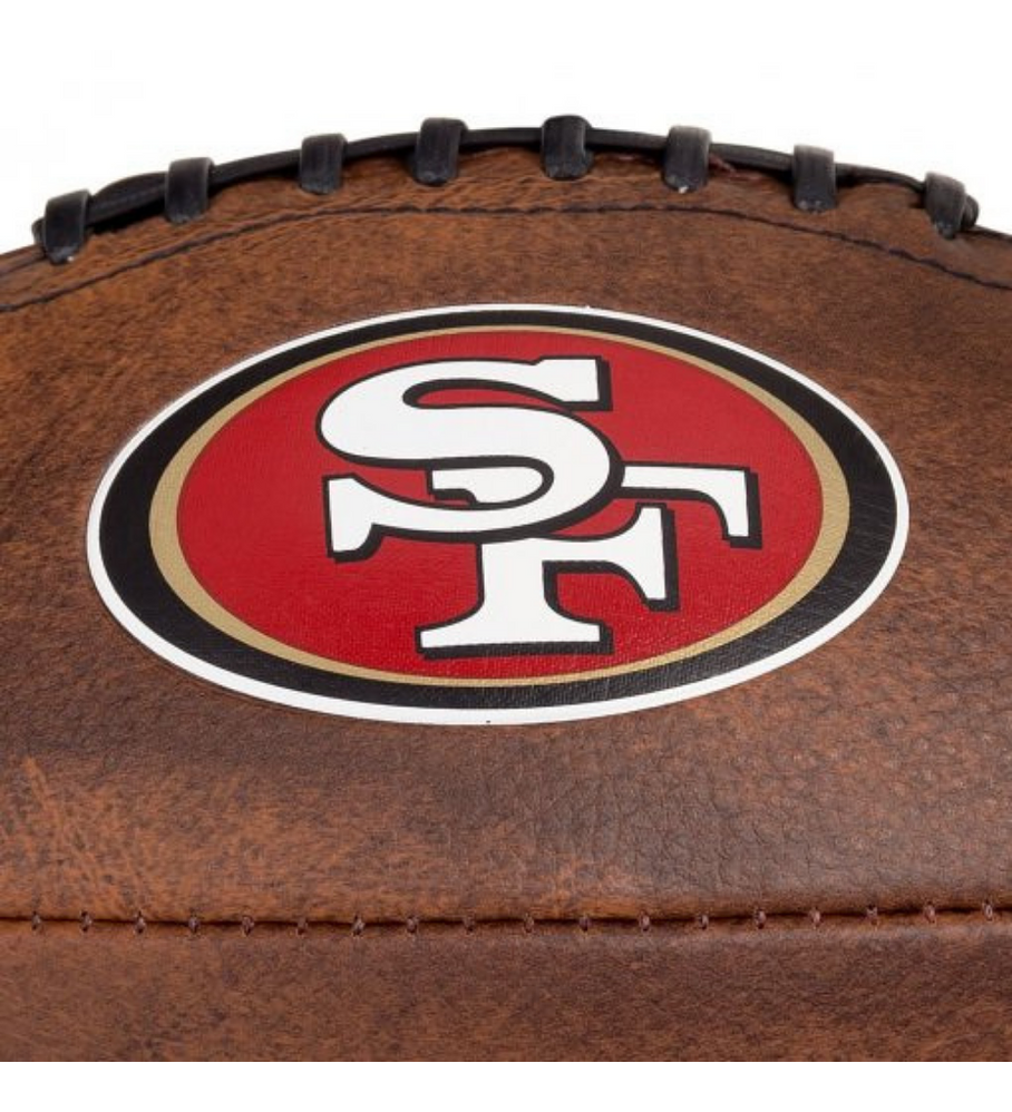 Balón Futbol Americano NFL Jr Throwback Team Logo San Francisco 49ers Tamaño GST Colegial