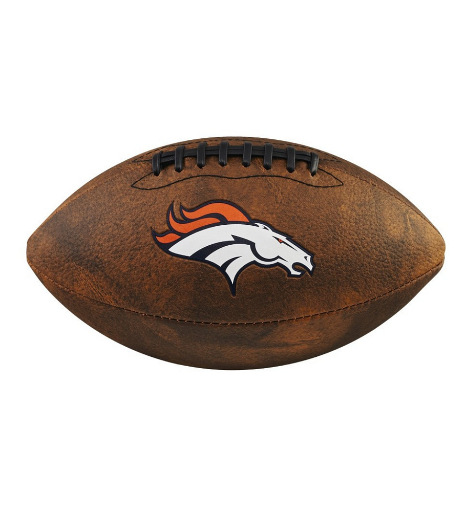 Balón Futbol Americano NFL Jr Throwback Team Logo Denver Broncos Tamaño GST Colegial