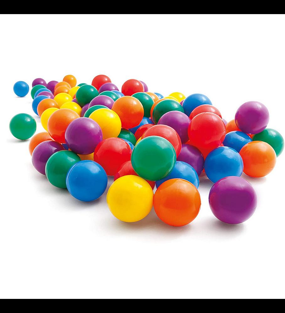 Pelotas Entretenidas Intex 8 cm 100 Unidades Small Fun Ballz