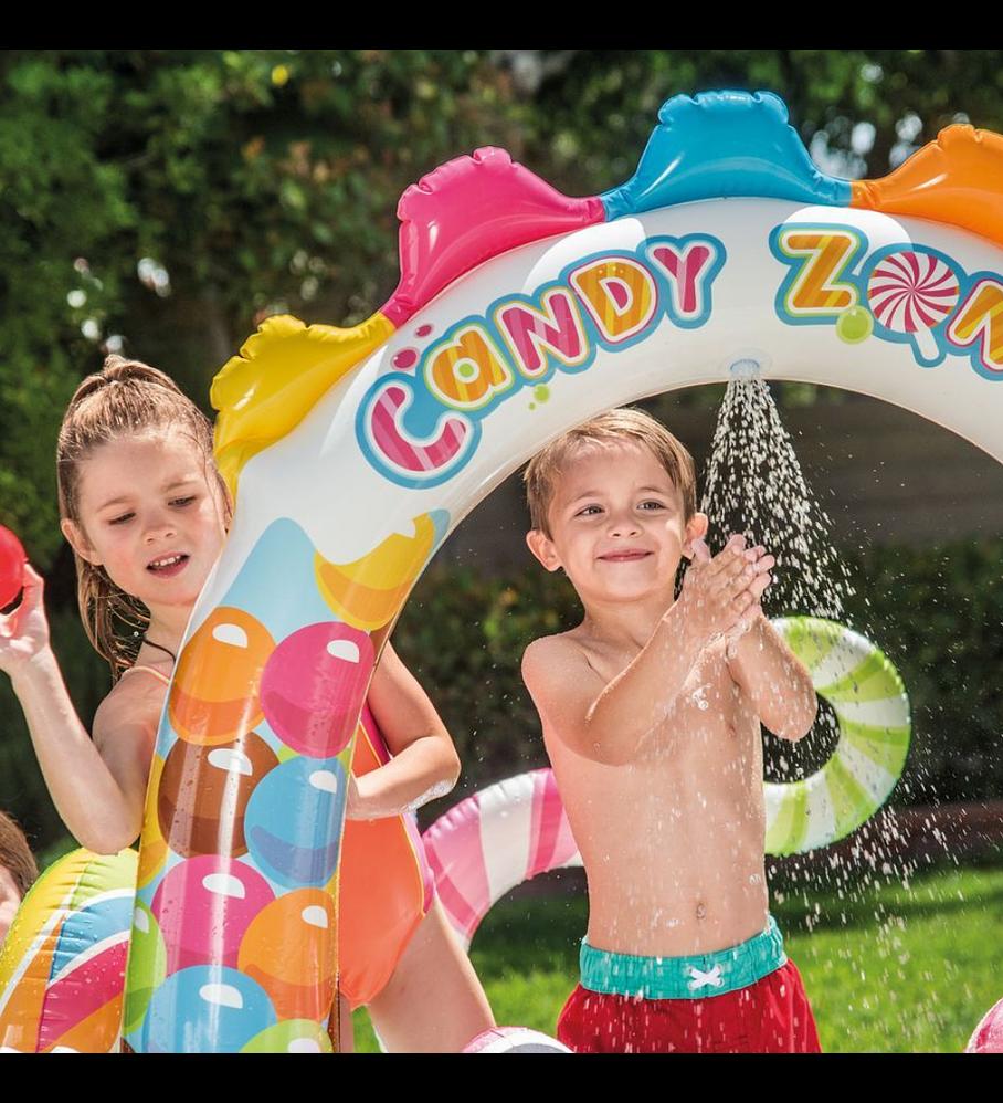 Centro de Actividad Inflable Intex Dulces Candy Zone