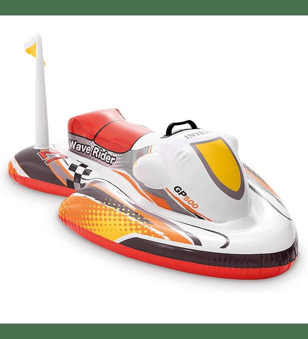Flotador Inflable Diseño Intex Moto de Agua 117x77 Cm Wave Rider