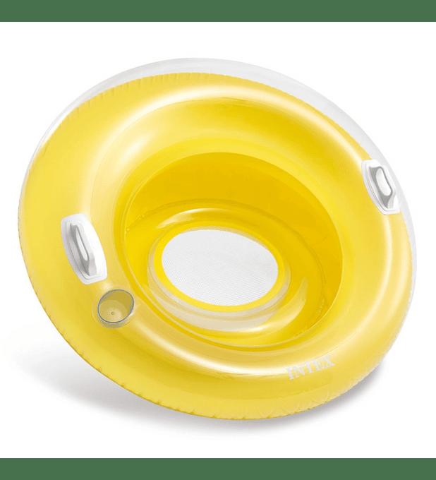 Asiento Flotante Inflable Intex con Sujetadores 119 Cm Sit 'n Lounge Amarillo