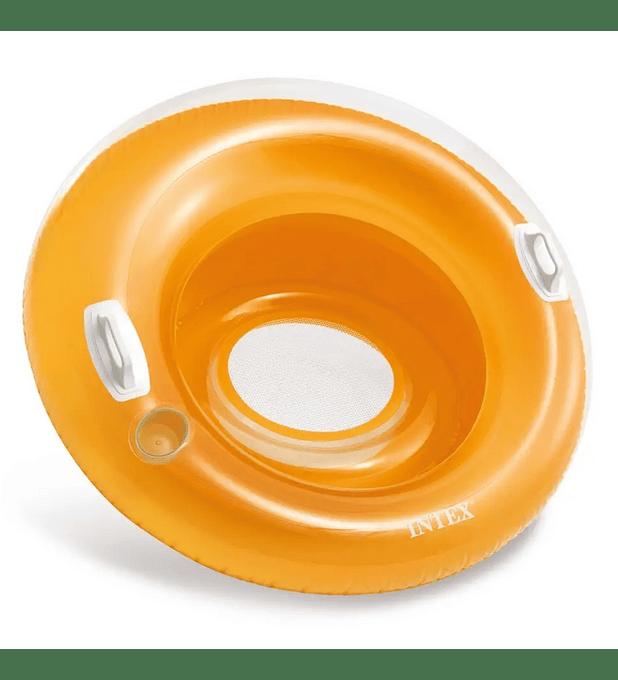 Asiento Flotante Inflable Intex con Sujetadores 119 Cm Sit 'n Lounge Naranja
