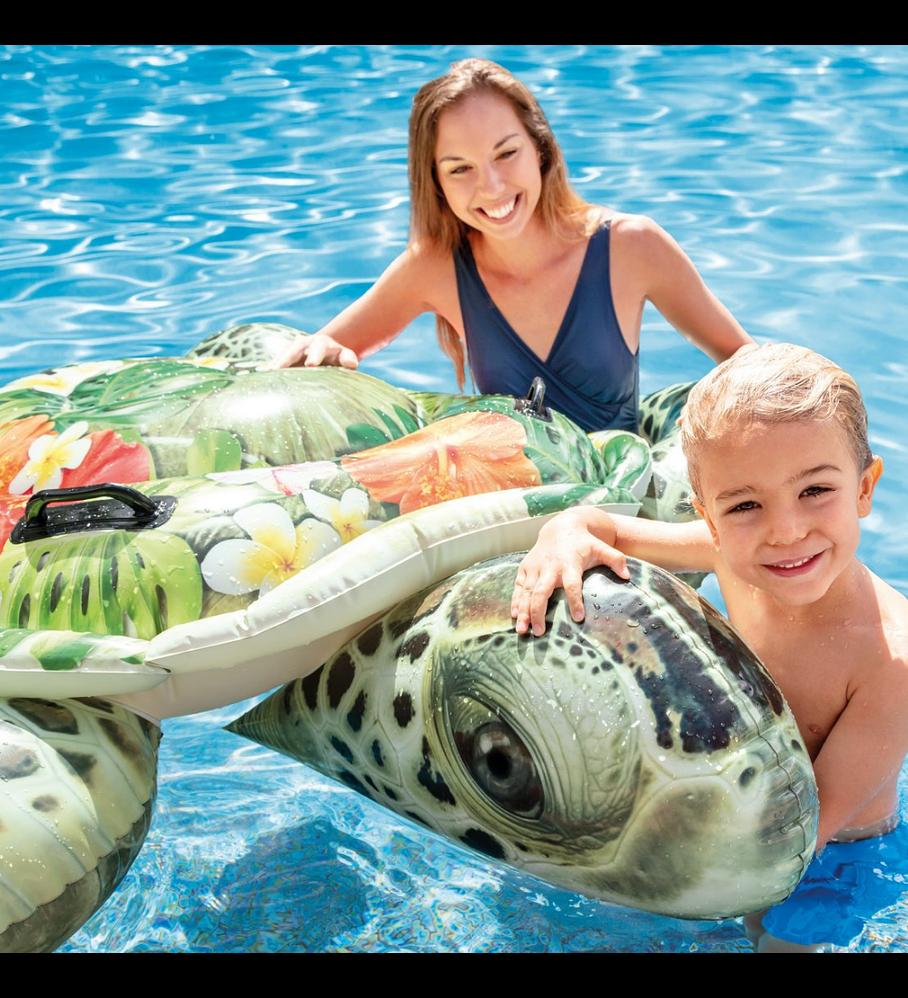 Flotador Inflable Diseño Intex Tortuga Realista 191x170 Cm Realistic Sea Turtle