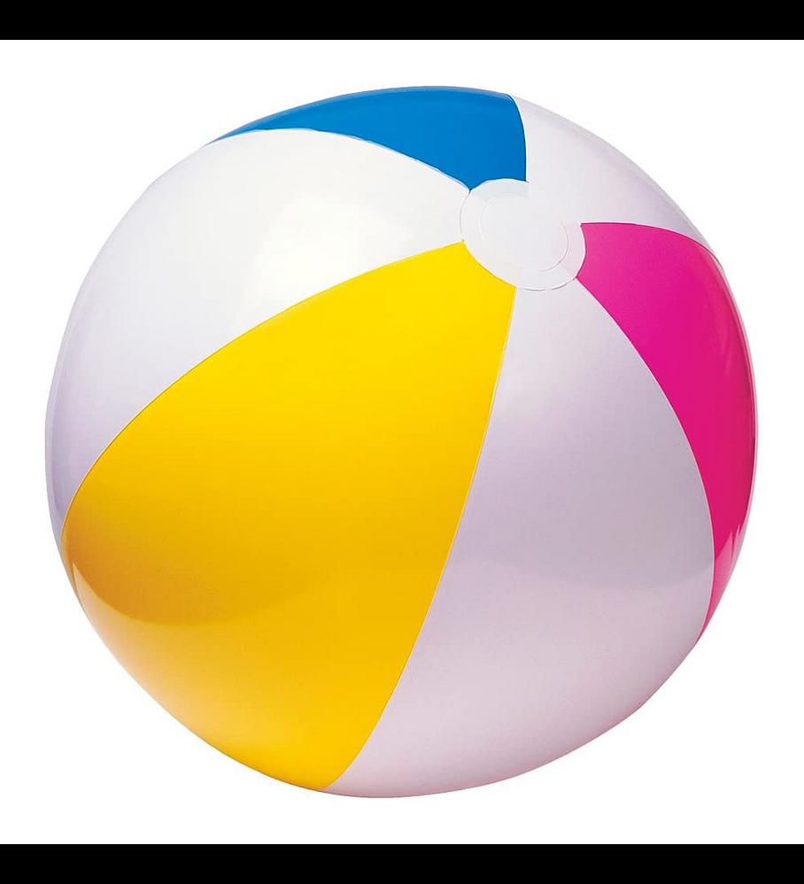 Pelota Inflable Intex Colores Brillantes 61 Cm Glossy Panel Ball