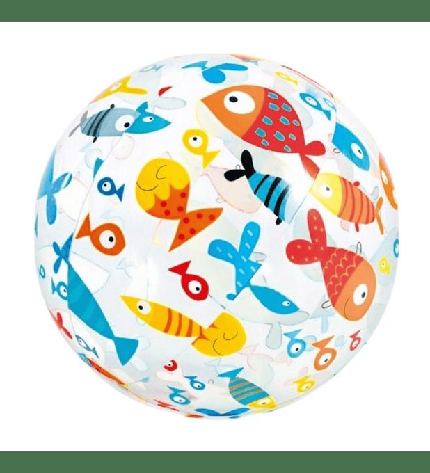 Pelota Inflable Intex Peces de Coral 51 Cm Lively Print Ball