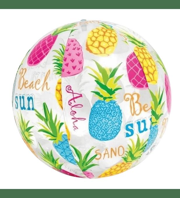 Pelota Inflable Intex Piñas de Colores 51 Cm Lively Print Ball