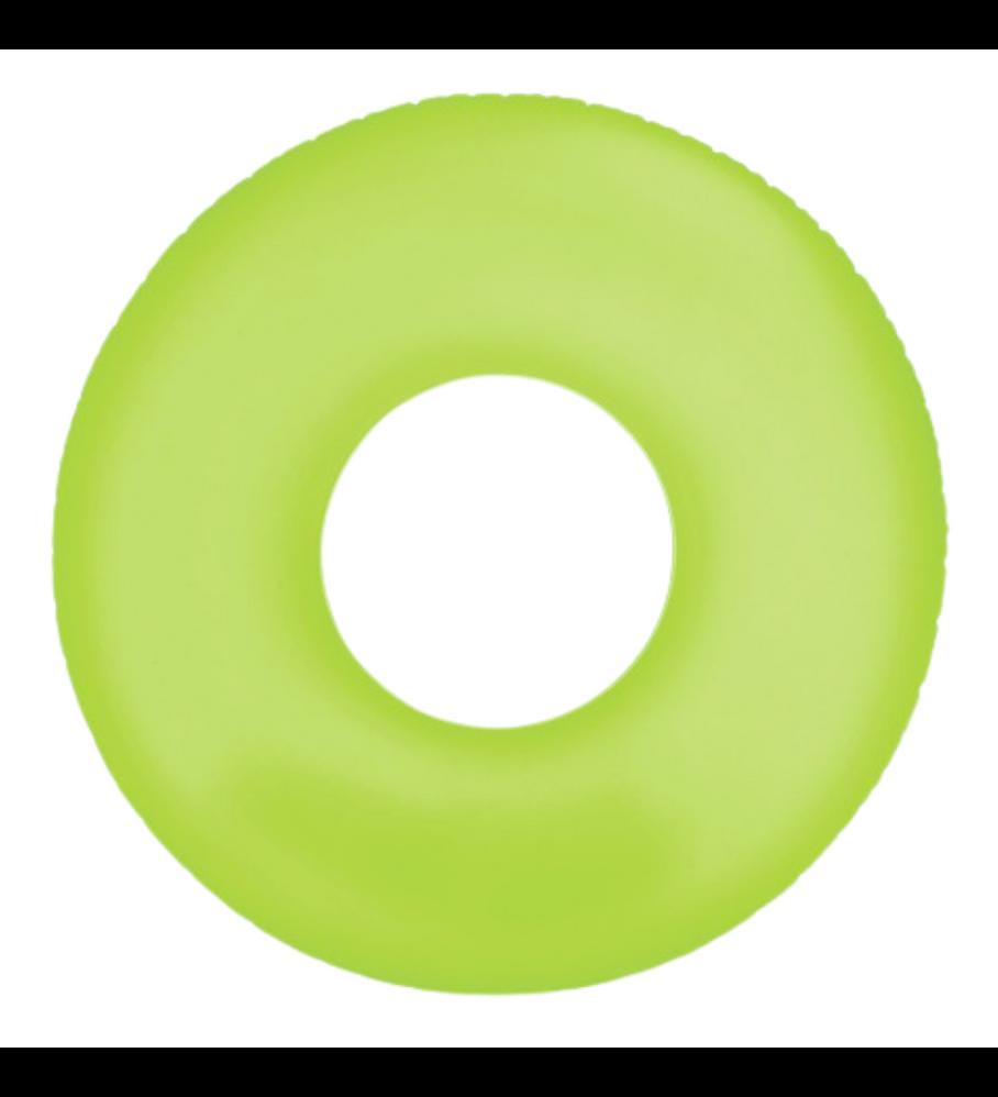 Flotador Inflable Redondo Intex 91 Cm Neon Frost Tube Verde