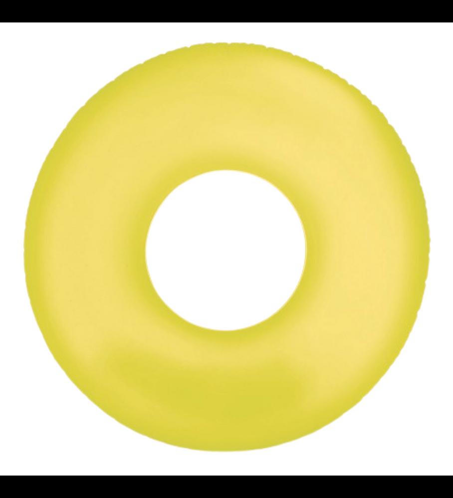Flotador Inflable Redondo Intex 91 Cm Neon Frost Tube Amarillo