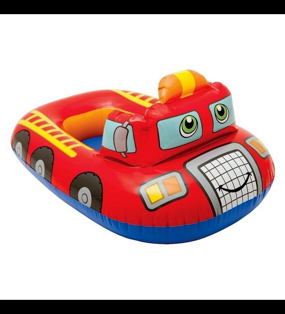 Flotador Inflable Bebé Intex Camión de Bomberos Capacidad 15 Kg Kiddie Float