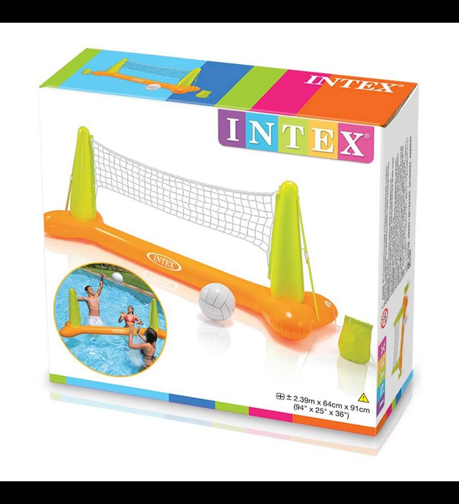 Juego Piscina Inflable Intex Malla De Pool Volleyball + Pelota Inflable