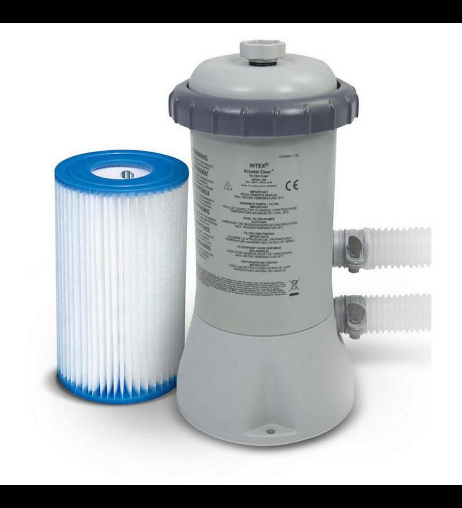 Bomba Intex Para Piscina 2.006 Lts/hr Filter Pumps + Filtro Tipo A