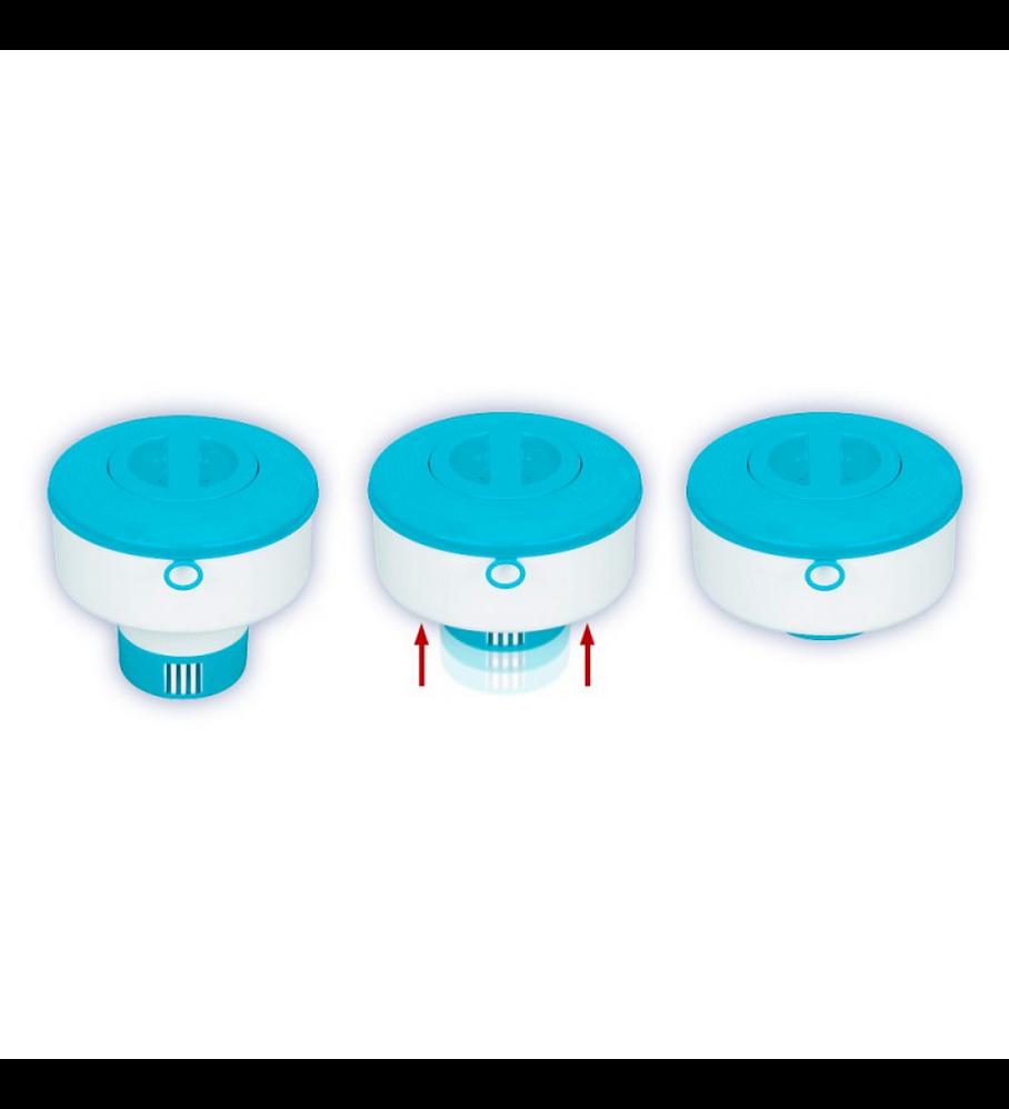 Dispensador de Cloro Flotante Intex para Piscinas Chemical Dispenser 17.8 Cm
