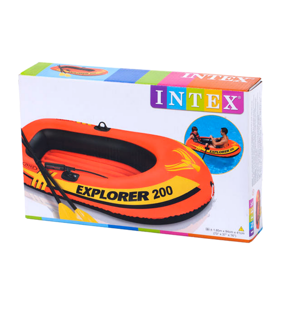 Bote Inflable Intex Explorer 200 Set Capacidad 95 Kg + Remos + Inflador