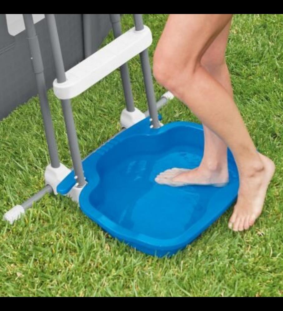 Limpia Piés Para Piscina Intex Antideslizante Pool Foot Bath
