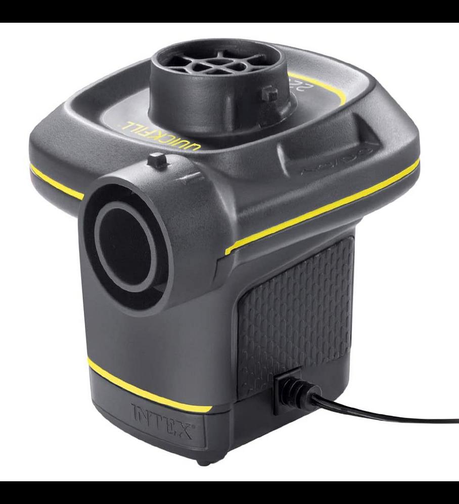 Inflador Eléctrico Intex Corriente 220-240V + Adaptador de Auto 12 V Quick-Fill AC/DC