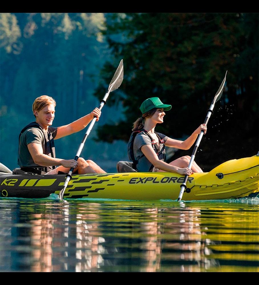 Remos Aluminio Intex Para Kayak Largo 218 Cm Kayak Paddle