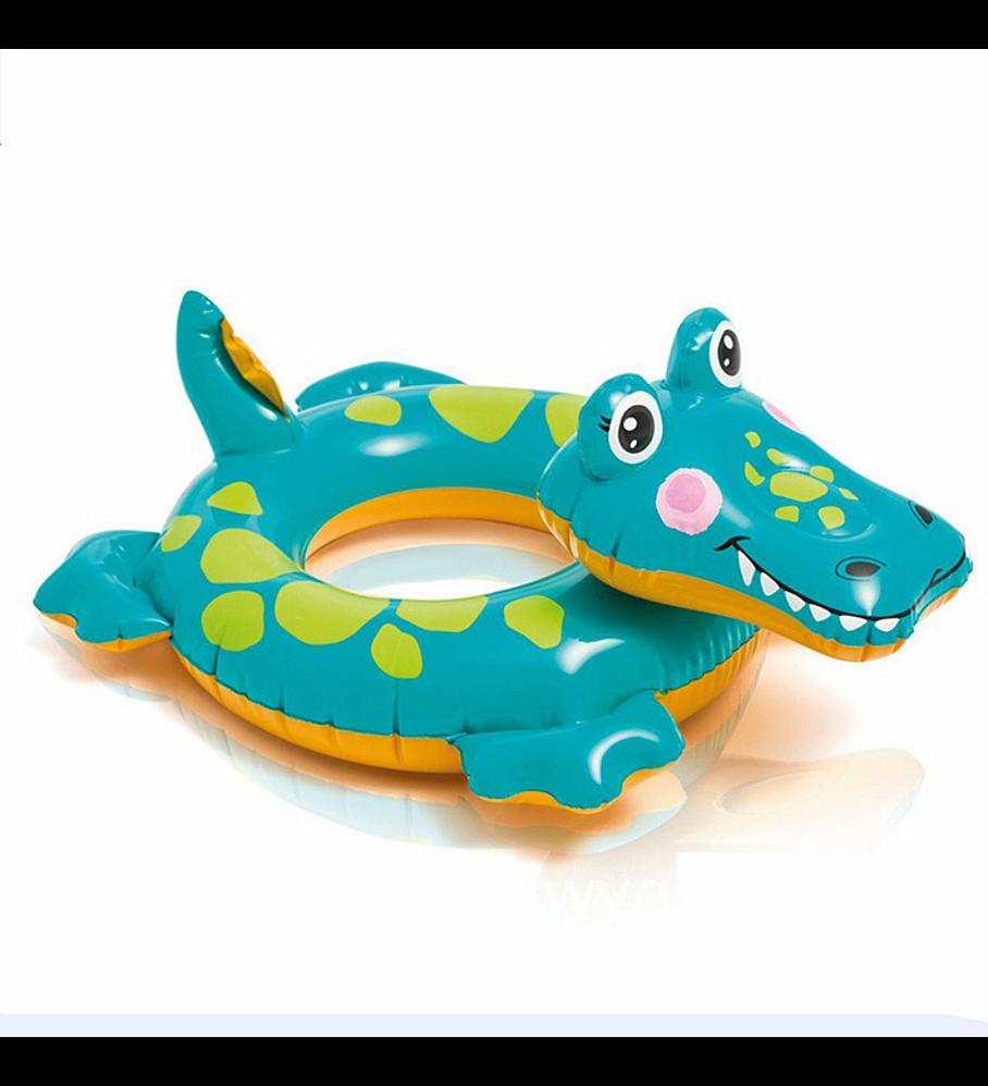 Flotador Inflable Redondo Intex Cocodrilo 56 Cm Big Animal Ring