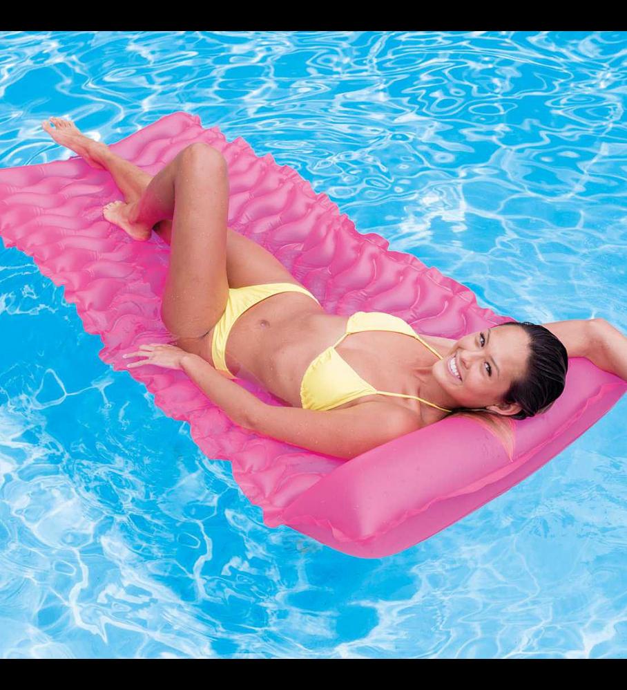 Flotador Inflable Mat Intex 229x86 Cm Tote-n-Float Rosado