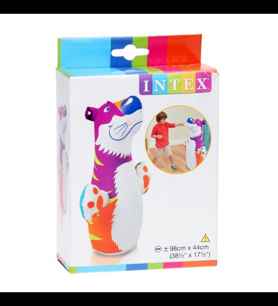 Tigre Porfiado Inflable Intex 3-D Bop Bags