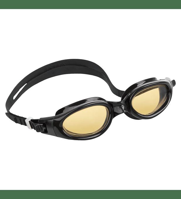 Lentes de Agua Intex Anteojos Natación Silicone Sport Master Goggle Negro