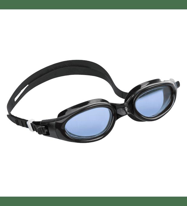 Lentes de Agua Intex Anteojos Natación Silicone Sport Master Goggle Negro Azul