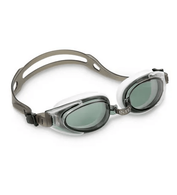 Lentes de Agua Intex Anteojos Natación Water Sport Goggle Gris Blanco