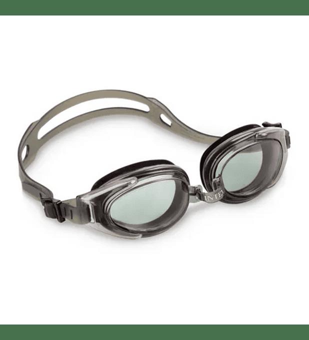 Lentes de Agua Intex Anteojos Natación Water Sport Goggle Gris Negro