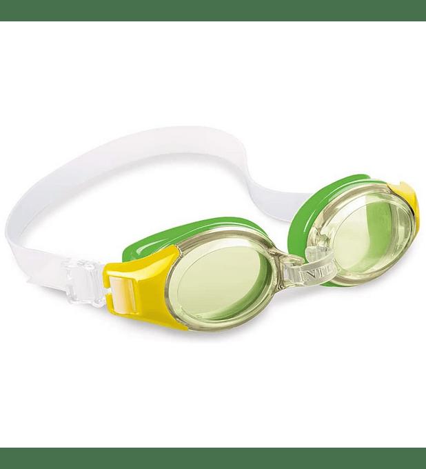 Lentes de Agua Niño Intex Anteojos Natación Junior Goggle Verde Amarillo