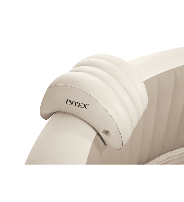 Almohada Inflable Para Spa Color Crema