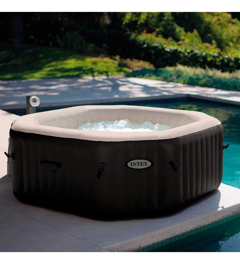 Spa Jacuzzi Inflable Premium Burbujas Octogonal 4 Personas