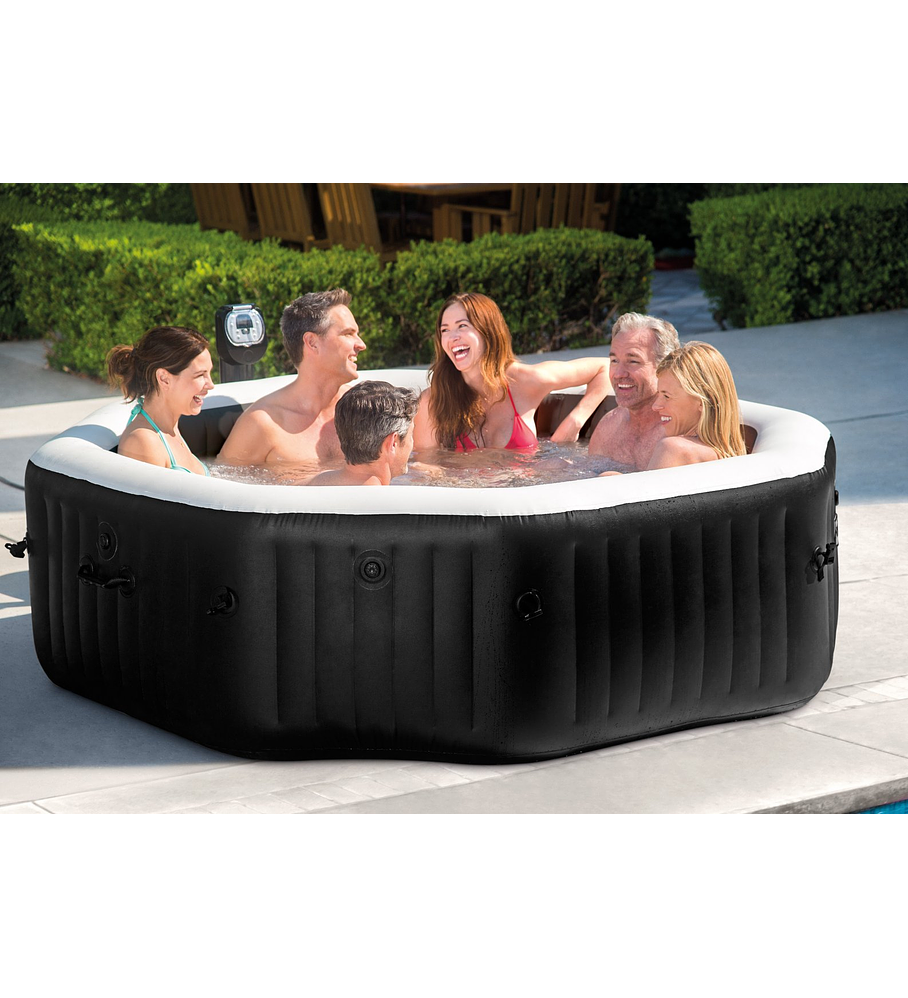 Jacuzzi Inflable Chile.Spa Jacuzzi Inflable Premium Burbujas Octogonal 6 Personas