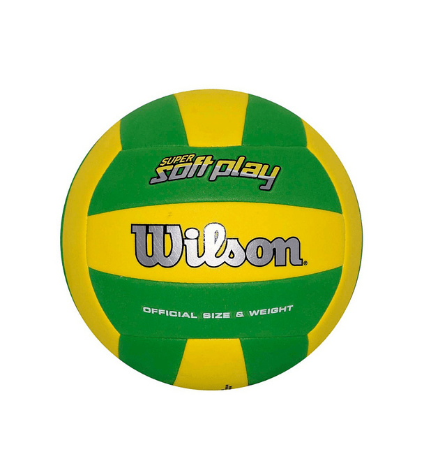 Balón Volleyball Super Soft Play Amarillo Verde Bulk