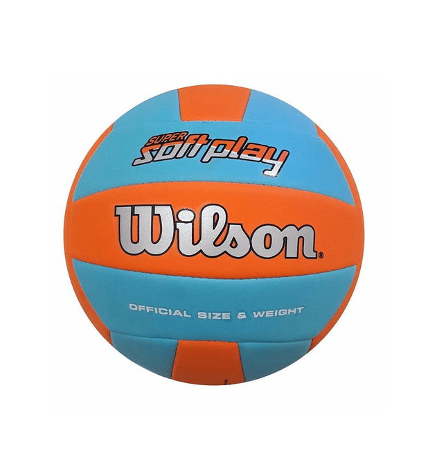 Balón Volleyball Super Soft Play Naranja Azul Bulk
