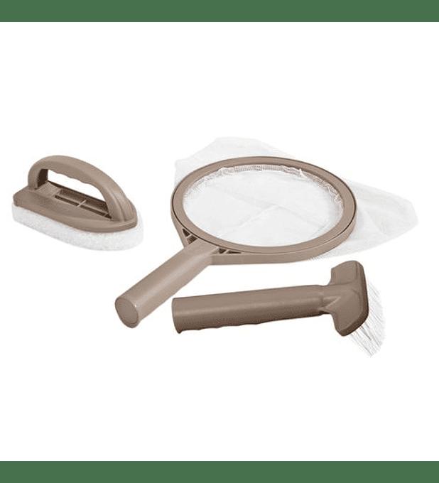 Kit Mantenimiento Para Spa +2 Cepillos Y 1 Malla