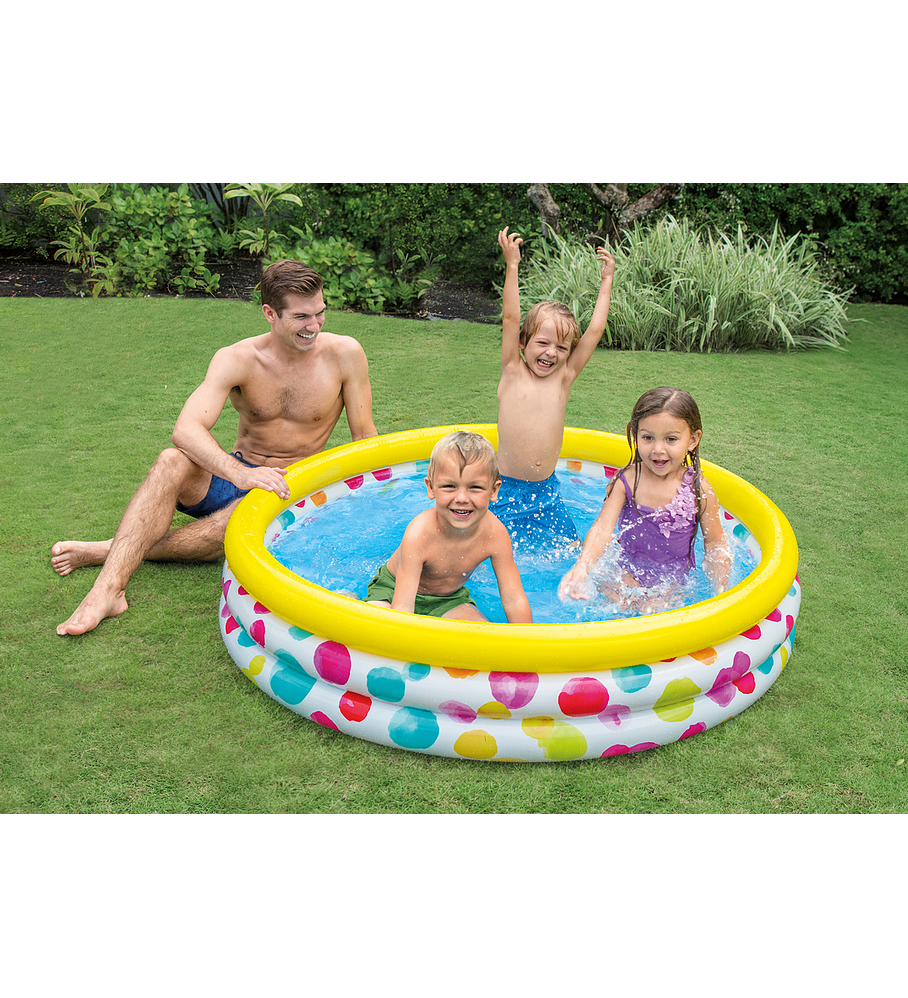 Piscina Inflable Color Dots 168x38 Cms