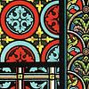 ARTE EDAD MEDIA - VITRALES siglo XII, XIII y XIV (LAMINA)