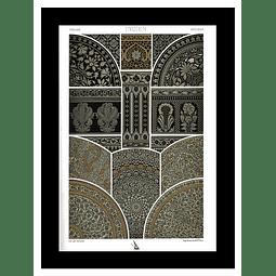ARTE ORIENTE HINDU GRABADOS METAL (LAMINA)