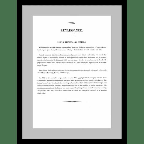 ARTE RENACIMIENTO ILUMINACIONES (LAMINA)