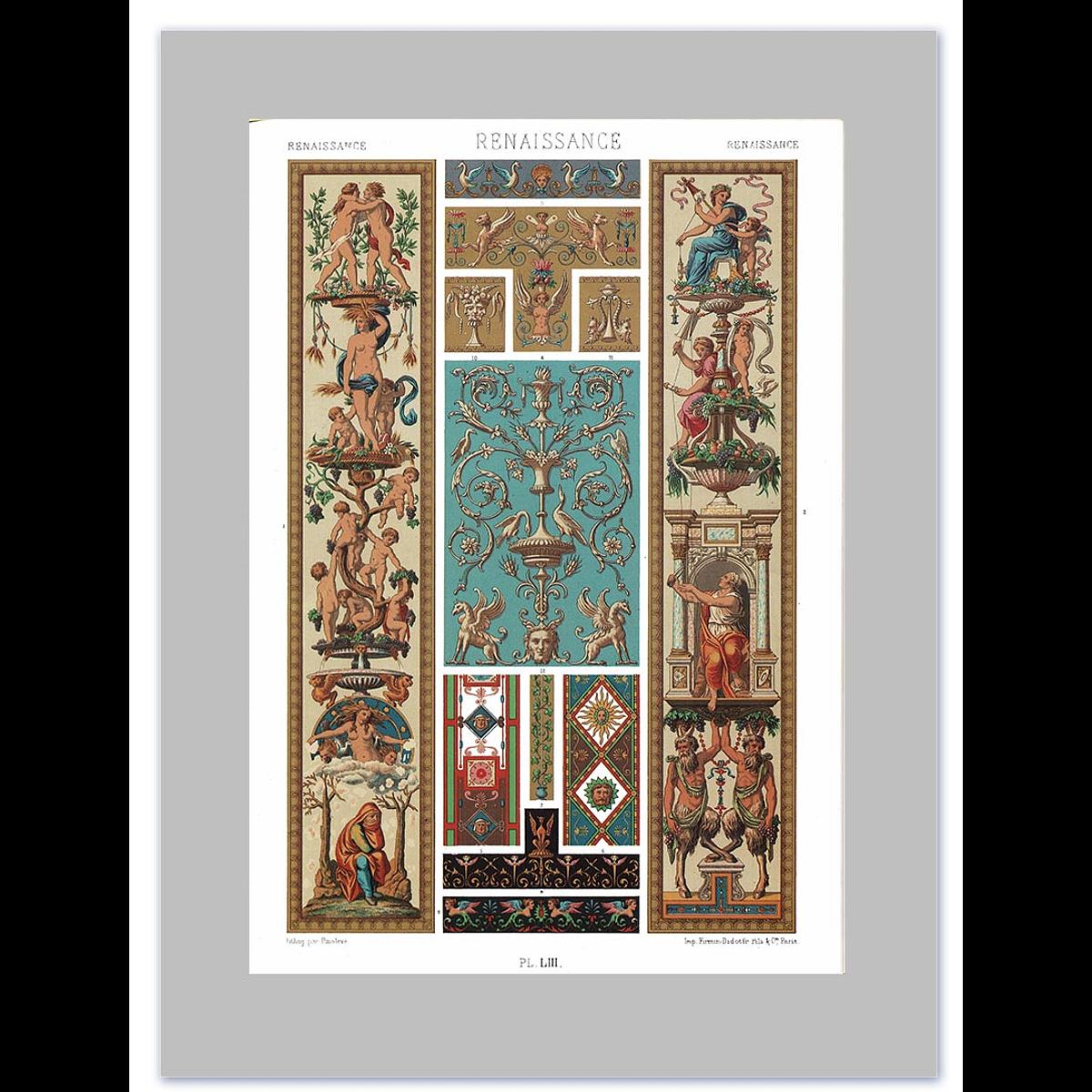 ARTE RENACIMIENTO VATICANO Fresco y arabescas (LAMINA)