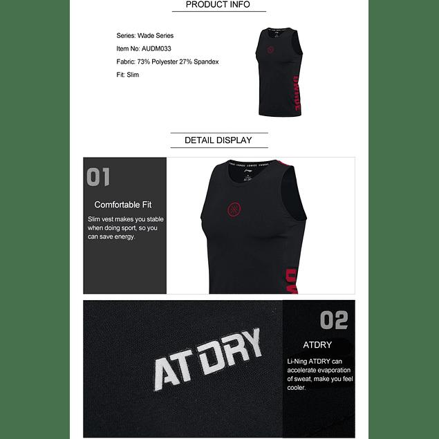 Camiseta sin mangas Primera Capa Compresión Li-ning D Wade
