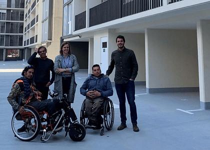 Inmobiliaria Echeverría e Izquierdo diseña departamentos inclusivos de 1 y 2 dormitorios junto a BAU Accesibilidad.