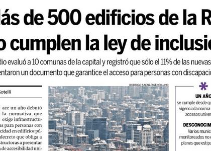 [DIARIO HOY X HOY] Más de 500 edificios de la RM no cumplen la ley de inclusión