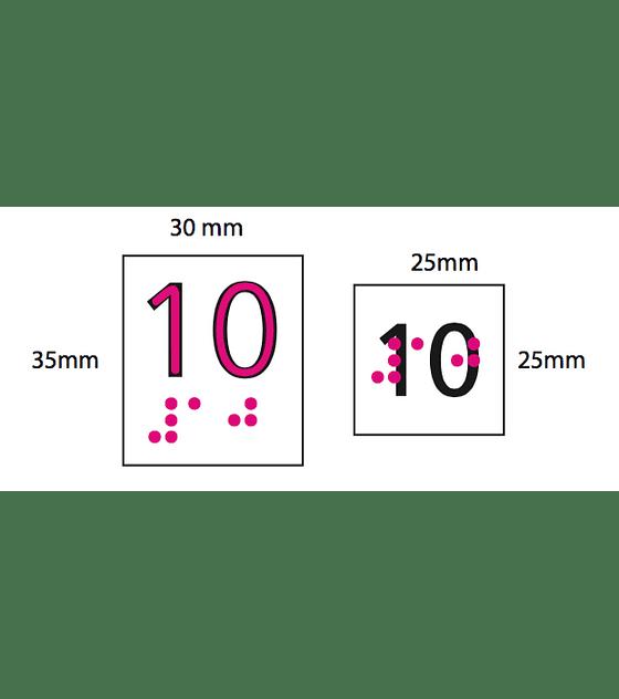 Placas Braille para botonera ascensor