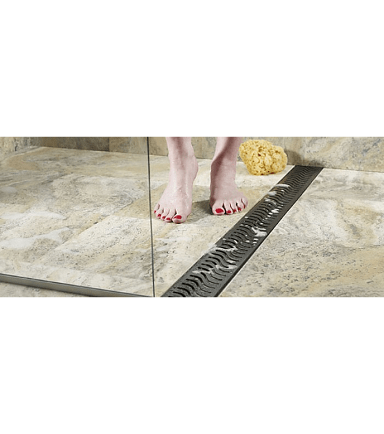 Canal de ducha plana - Rejilla modelo Wave